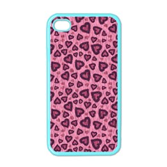 Leopard Heart 03 Apple Iphone 4 Case (color)