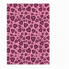 Leopard Heart 03 Large Garden Flag (two Sides)
