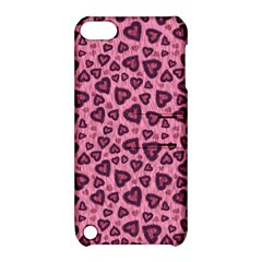Leopard Heart 03 Apple Ipod Touch 5 Hardshell Case With Stand