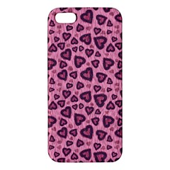 Leopard Heart 03 Apple Iphone 5 Premium Hardshell Case