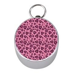 Leopard Heart 03 Mini Silver Compasses