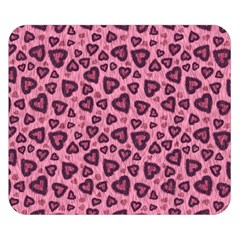 Leopard Heart 03 Double Sided Flano Blanket (small)