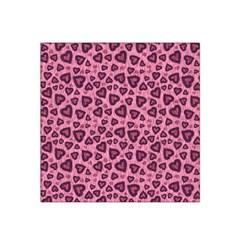 Leopard Heart 03 Satin Bandana Scarf