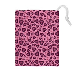 Leopard Heart 03 Drawstring Pouches (extra Large)
