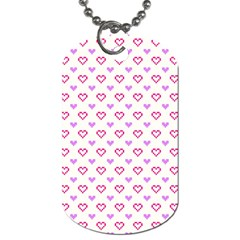 Pixel Hearts Dog Tag (one Side)