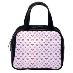 Pixel Hearts Classic Handbags (one Side)