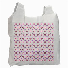 Pixel Hearts Recycle Bag (two Side)