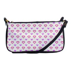 Pixel Hearts Shoulder Clutch Bags