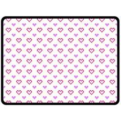 Pixel Hearts Fleece Blanket (large)