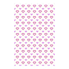 Pixel Hearts Shower Curtain 48  X 72  (small)