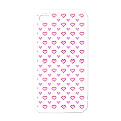Pixel Hearts Apple Iphone 4 Case (white)