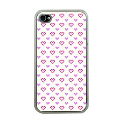 Pixel Hearts Apple Iphone 4 Case (clear)