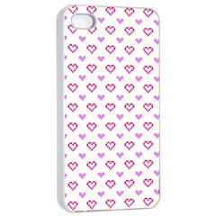 Pixel Hearts Apple Iphone 4/4s Seamless Case (white)