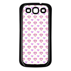 Pixel Hearts Samsung Galaxy S3 Back Case (black)