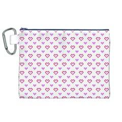 Pixel Hearts Canvas Cosmetic Bag (xl)