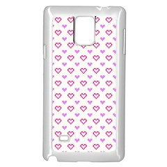 Pixel Hearts Samsung Galaxy Note 4 Case (white)