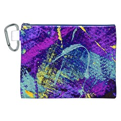 Ink Splash 01 Canvas Cosmetic Bag (xxl)