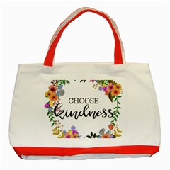 Choose Kidness Classic Tote Bag (red)
