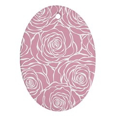Pink Peonies Ornament (oval)
