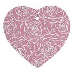 Pink Peonies Ornament (heart)