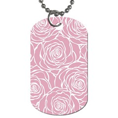 Pink Peonies Dog Tag (one Side)