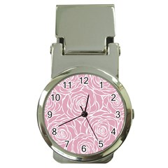 Pink Peonies Money Clip Watches
