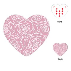 Pink Peonies Playing Cards (heart)