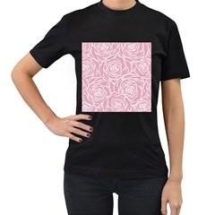 Pink Peonies Women s T Shirt (black)