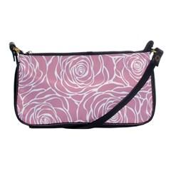Pink Peonies Shoulder Clutch Bags