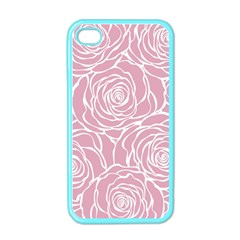 Pink Peonies Apple Iphone 4 Case (color)