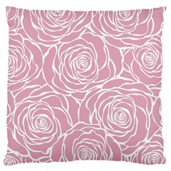 Pink Peonies Large Cushion Case (one Side)