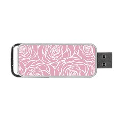 Pink Peonies Portable Usb Flash (two Sides)