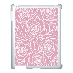 Pink Peonies Apple Ipad 3/4 Case (white)