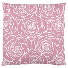 Pink Peonies Standard Flano Cushion Case (one Side)