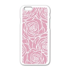 Pink Peonies Apple Iphone 6/6s White Enamel Case