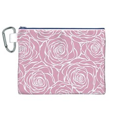 Pink Peonies Canvas Cosmetic Bag (xl)