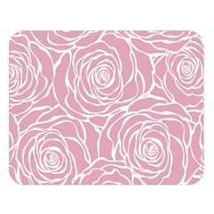 Pink Peonies Double Sided Flano Blanket (large)