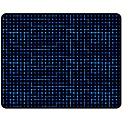 Sci Fi Tech Circuit Double Sided Fleece Blanket (medium)