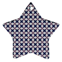Kaleidoscope Tiles Star Ornament (two Sides)