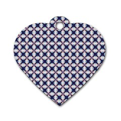 Kaleidoscope Tiles Dog Tag Heart (one Side)