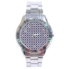 Kaleidoscope Tiles Stainless Steel Analogue Watch