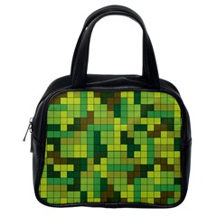 Tetris Camouflage Forest Classic Handbags (one Side)