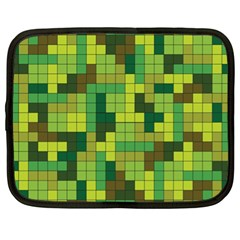 Tetris Camouflage Forest Netbook Case (xl)