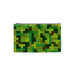 Tetris Camouflage Forest Cosmetic Bag (small)