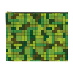 Tetris Camouflage Forest Cosmetic Bag (xl)