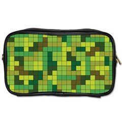 Tetris Camouflage Forest Toiletries Bags 2 Side