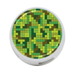 Tetris Camouflage Forest 4 Port Usb Hub (two Sides)