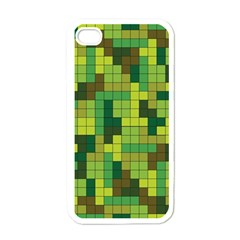 Tetris Camouflage Forest Apple Iphone 4 Case (white)