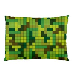 Tetris Camouflage Forest Pillow Case (two Sides)