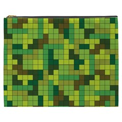 Tetris Camouflage Forest Cosmetic Bag (xxxl)